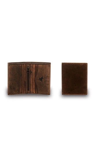 Leather Wallet oil Brown